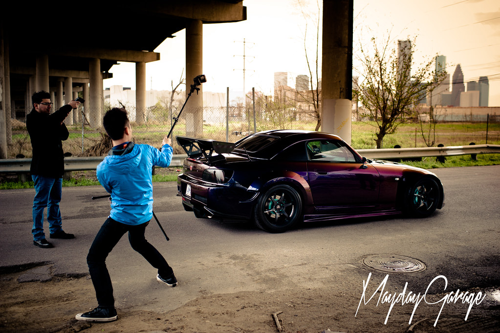 Paul Morgan's Midnight Purple S2K getting the strobe treatment