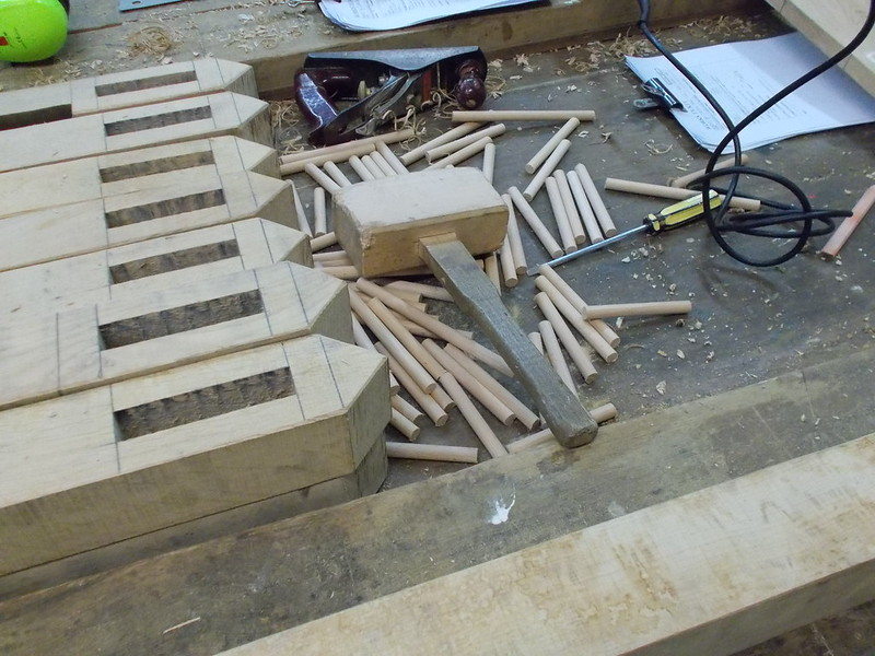 Milled posts ready for fingers