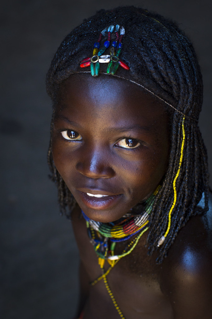 Mucawana tribe girl , Namibia