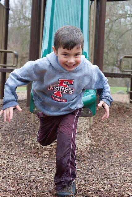Muddy playground