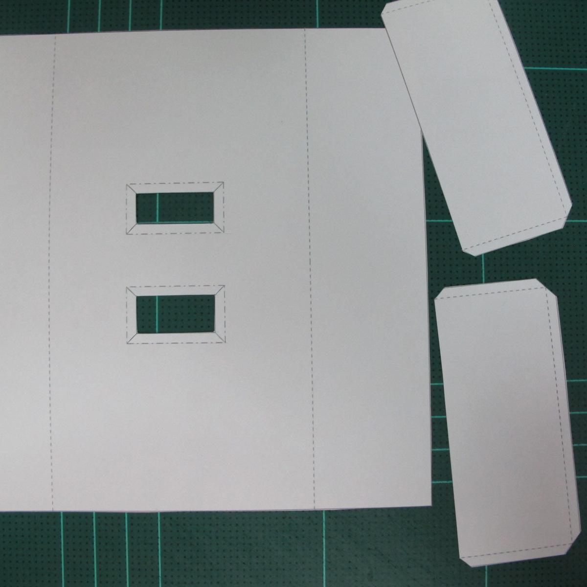 วิธีทำโมเดลกระดาษตุ้กตา คุกกี้ รัน คุกกี้รสซอมบี้ (LINE Cookie Run Zombie Cookie Papercraft Model) 026