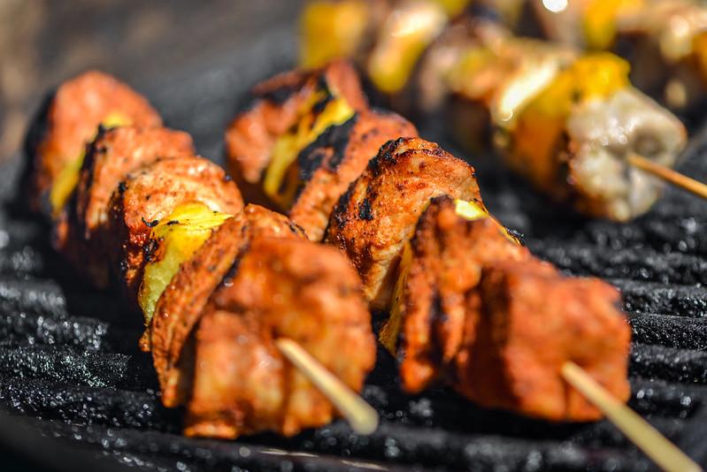 Sweet & Spicy Apricot Glazed Pork Kebabs