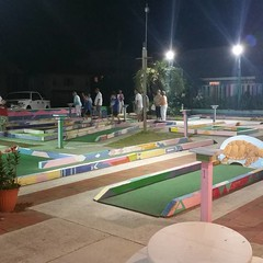 outdoor play equipment(0.0), baseball field(0.0), playground(0.0), stadium(0.0), arena(0.0), sport venue(1.0), play(1.0), sports(1.0), recreation(1.0), games(1.0), miniature golf(1.0), public space(1.0),