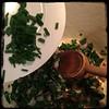 #Homemade #Callaloo #SeasonedRice #CucinaDelloZio - scallions or chives