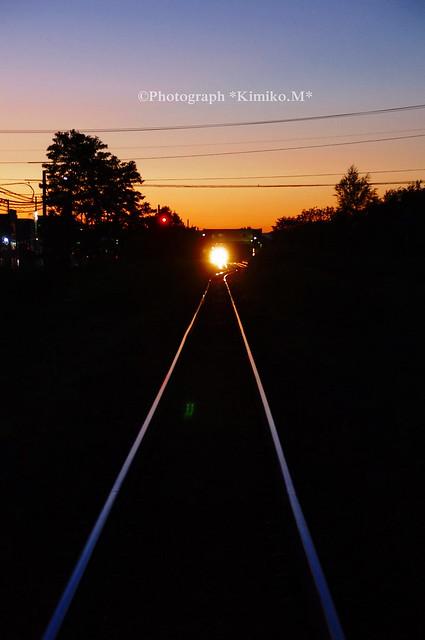 夕焼け鉄路
