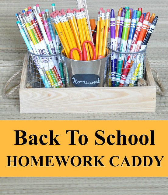 Back To School Homework Caddy