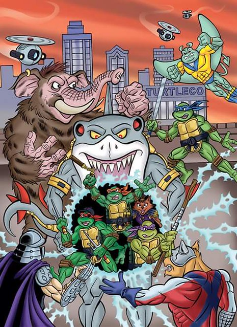 TEENAGE MUTANT NINJA TURTLES ADVENTURES Archives Vol. 10; Colour - Pencils & color by Steve Lavigne, inks by Ryan Brown (( 2015 ))