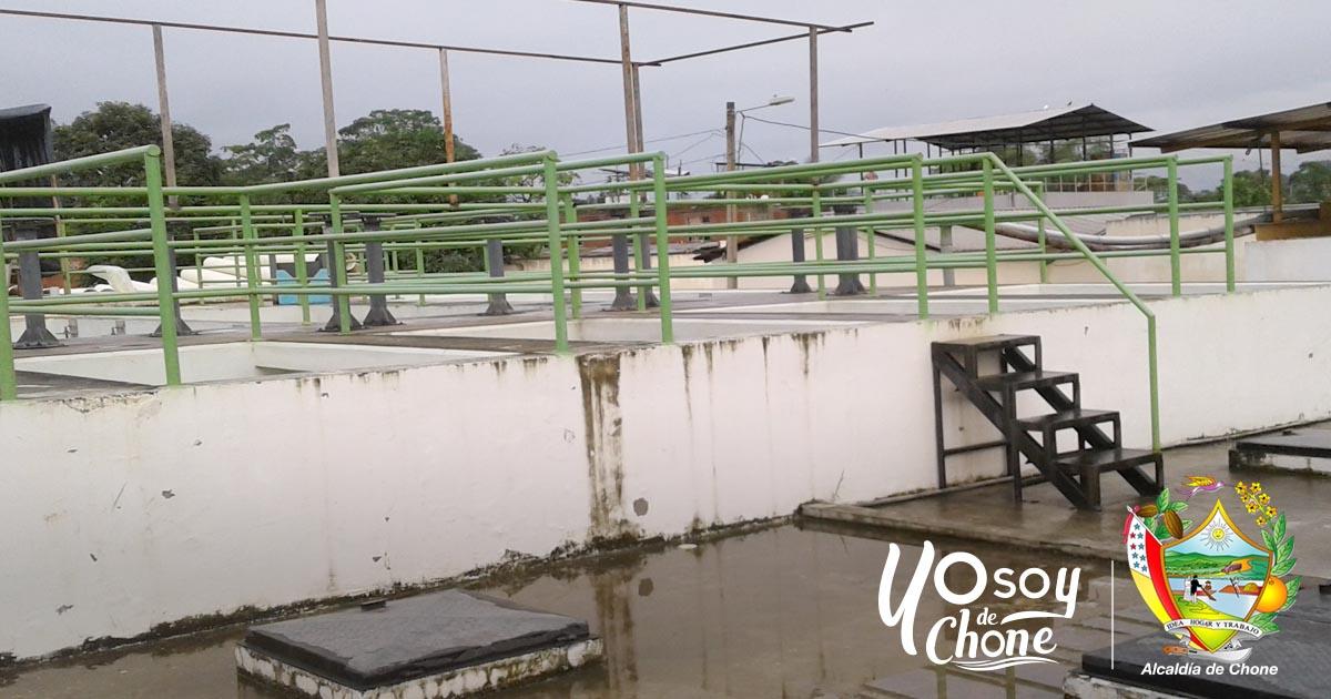 Empresa de Agua Potable de Chone realiza limpieza de módulos