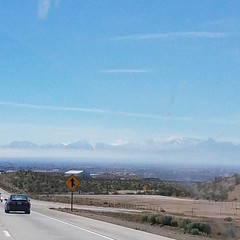 Southbound on the 15, right before Victorville. #beautifulcaliforniaday #onacleardayyoucanseeforever #nofilter #inlandempire #roadtrippin #homewardbound