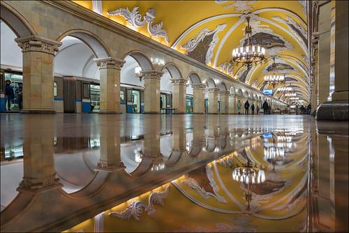 Russia. Moscow. Station metro Komsomolskaya (Koltsevaya Line).