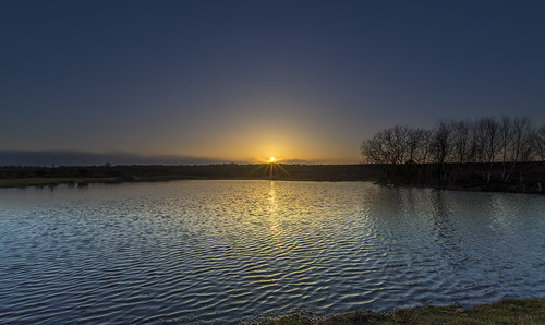 slufters pond newforest water sun sunset