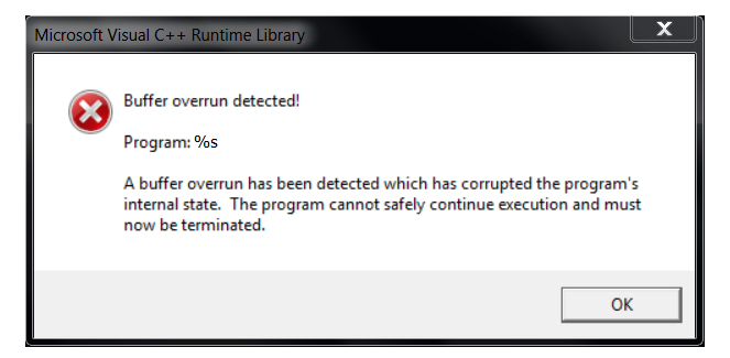 The right way to fix Windows Microsoft visual c++ runtime error. windows c