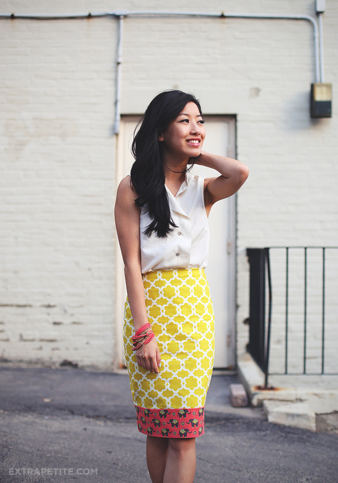 lime elephant skirt DIY 2