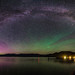 Priest Lake Milky Way Aurora Borealis by CraigGoodwin2