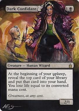 Dark Confidant Magic the Gathering altered art mtg magic card artwork Dark confidant artwork MTG cards collect card game