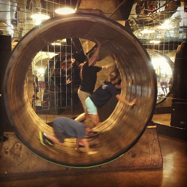 Human hamster wheel at City Museum in St. Louis. What an awesome day!!