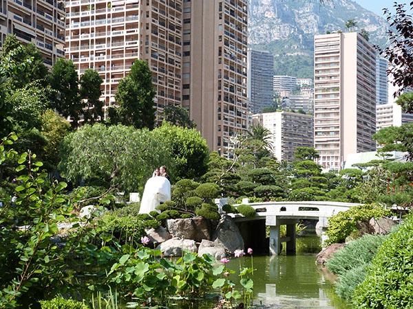 mariés jardin japonais