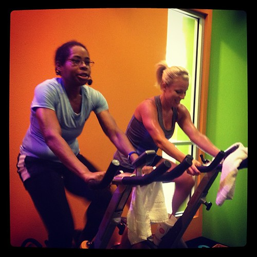From Friday: @pszak team taught group ride! It was hot in the cycle room! #spin #spinning