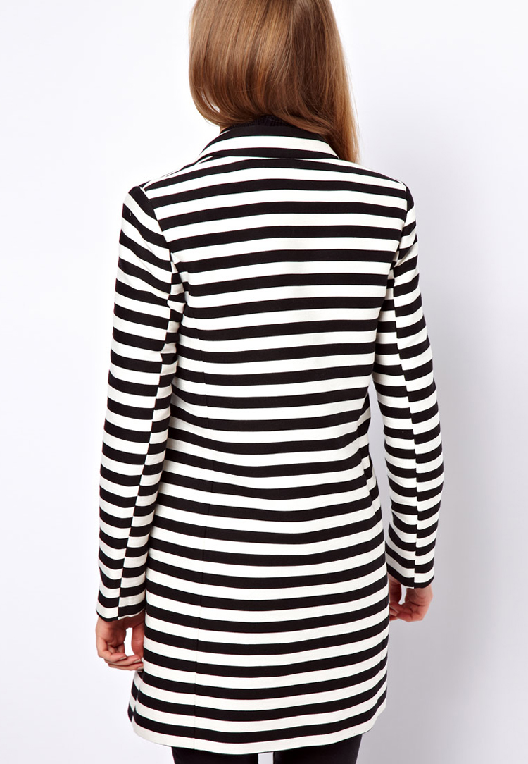 ASOS Stripe Ovoid Coat