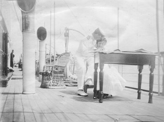 "Aboard the Nigerian Government steam yacht ""Ivy"" in 1904"