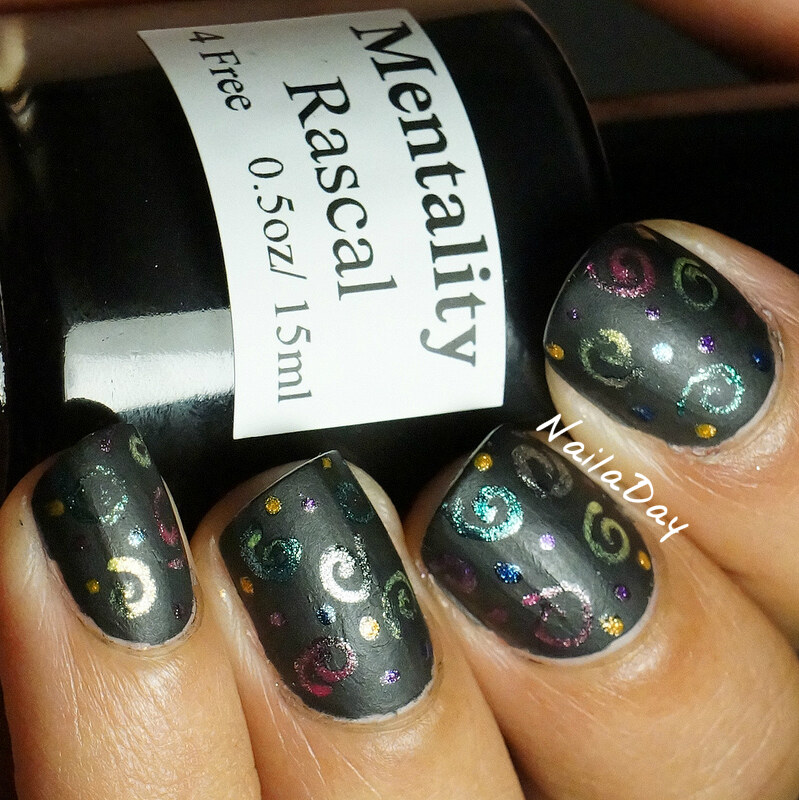 NailaDay: Mentality Rascal with gel pen design