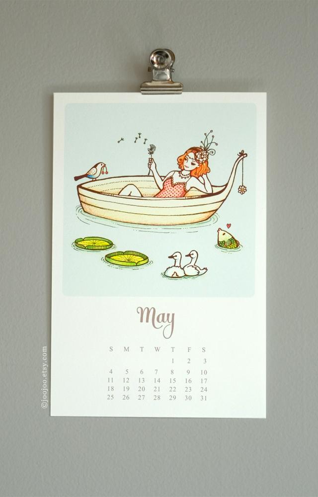 Mini Wall Calendar 2014