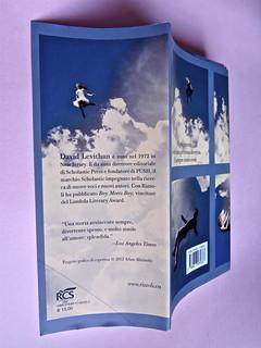 David Levithan, ogni giorno. Rizzoli 2013. Progetto grafico di copertina © Adam Abernethy. Risvolto della q. di sovracoperta (part.), 1