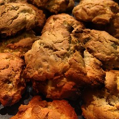 chocolate chip cookie, baking, oatmeal-raisin cookies, baked goods, cookies and crackers, food, dessert, cookie, snack food,