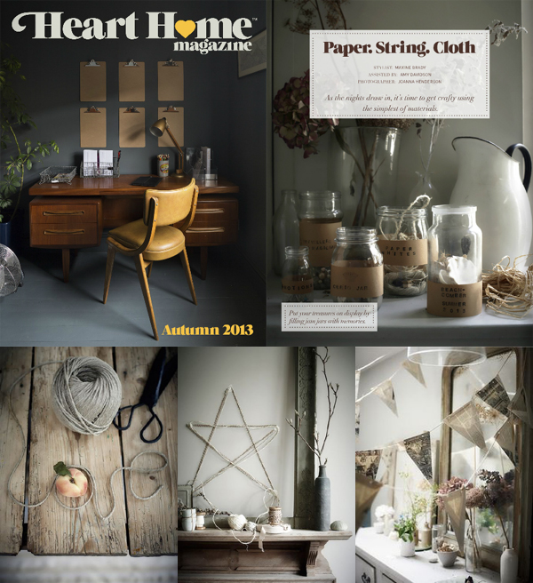 Paper.String.Cloth. - one of my favourite articles from Heart Home magazine, autumn 2013 | Emma Lamb