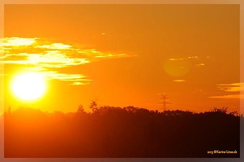 orange sunrise deutschland sonnenaufgang badschwartau ostholstein