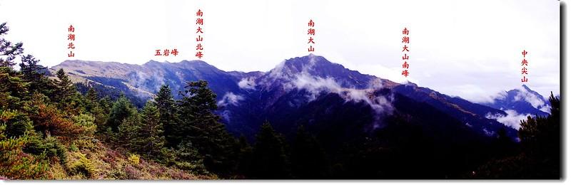 南湖中央尖(審馬陣南望) 1-1