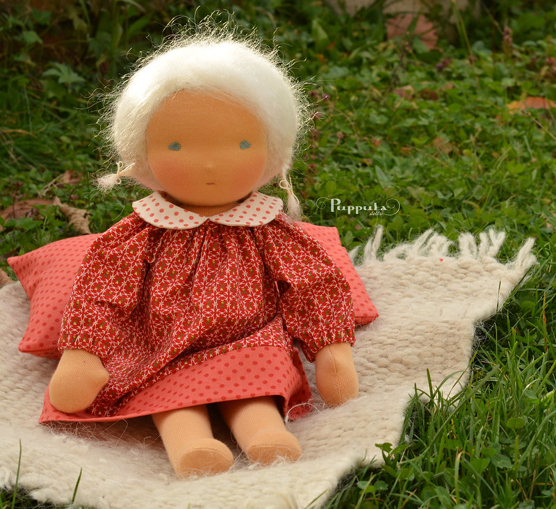 Little red dress for a 15 inch doll