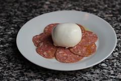meal, breakfast, meat, food, dish, cuisine, cooking, salami,