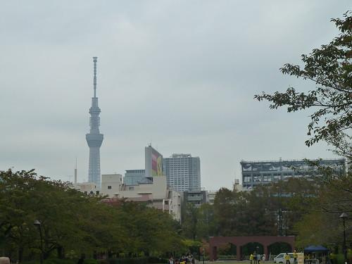 猿江恩賜公園からの東京スカイツリー