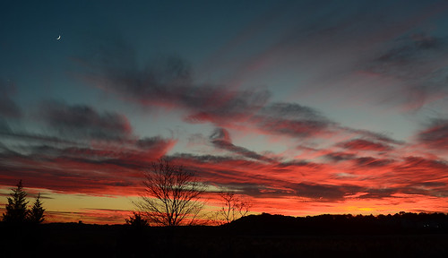 sunset red sky cloud color weather night evening skies nuvola sundown dusk cielo nuvem nube wolk twillight pilv pwpartlycloudy
