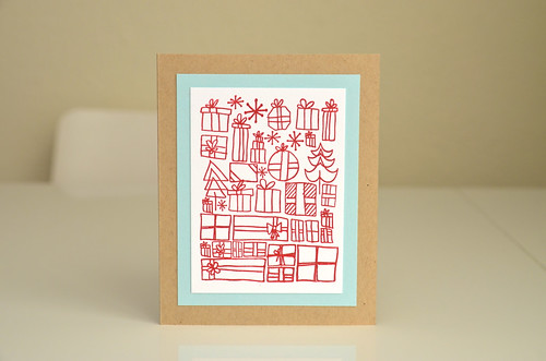 Magical Presents - Letterpress card by CloudsShadler