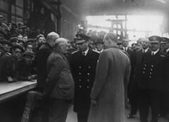King George VI at the shipyard of Hawthorn Leslie