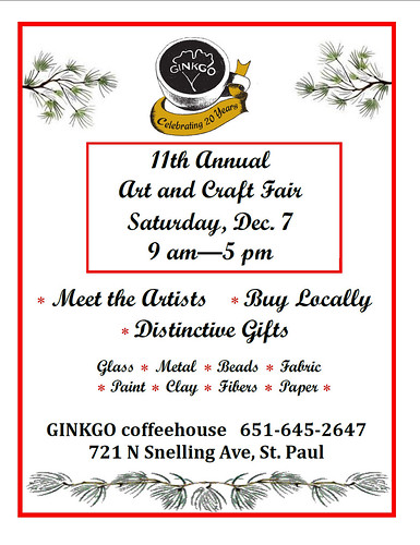 GINKGO coffeehouse Holiday Art Show flier