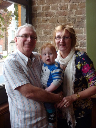 Sam with Grandma and Grandad