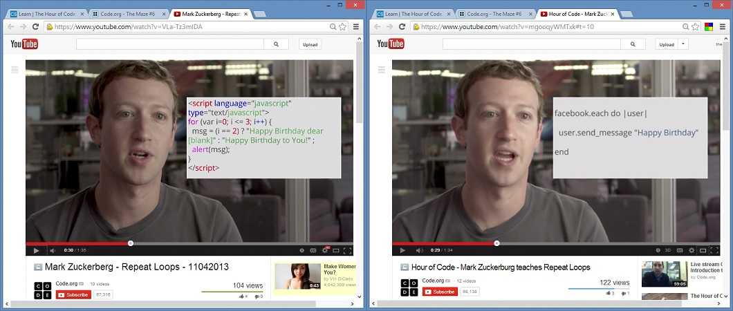 Zuckerberg Shows Kindergartners Ruby Instead of JavaScript