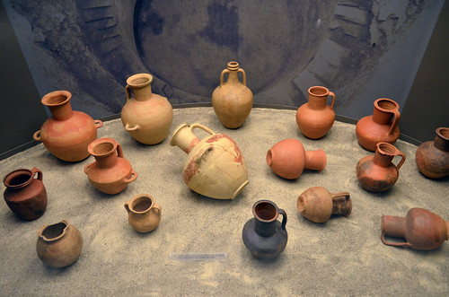 Water pots from the large cistern, ancient Aiane