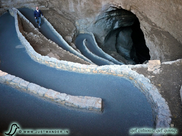 PIC: The most amazing entrance to a cavern will be found in New Mexico at Carlsbad Caverns National Park.
