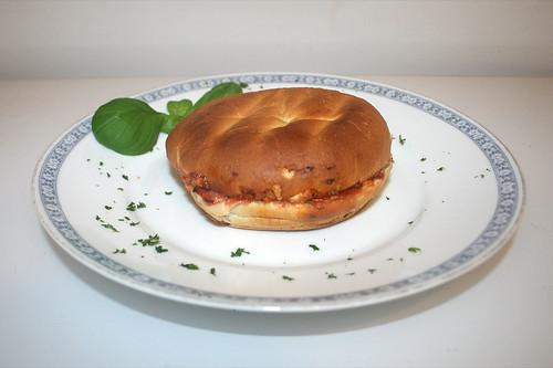 09 - Dr. Oetker Pizzaburger Speciale - Serviert