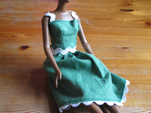 I helped Ella sew this dress for Adelia's doll.