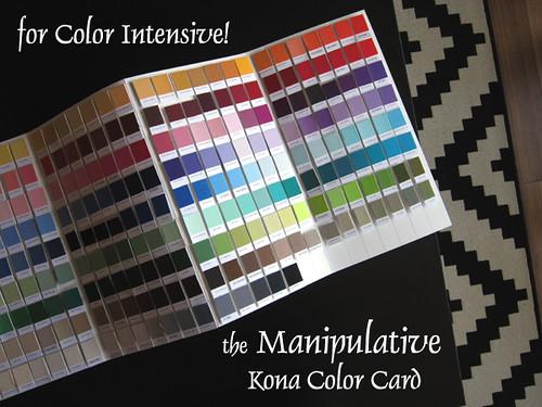 the Manipulative Kona Color Card