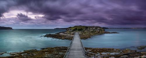 longexposure bridge sunset water clouds australia newsouthwales laperouse bareisland nd09 rgnd09