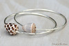 Maui Cone Shell Silver Hammered Bangles