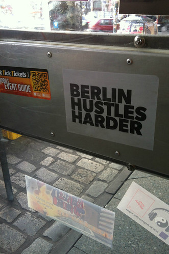 Burgermeister Berlin sticker Berlin hustles harder