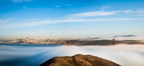sanfrancisco california city longexposure urban northerncalifornia fog skyline cityscape unitedstates goldengatebridge lee northamerica sausalito marinheadlands sutrotower slackerhill bigstopper karlthefog