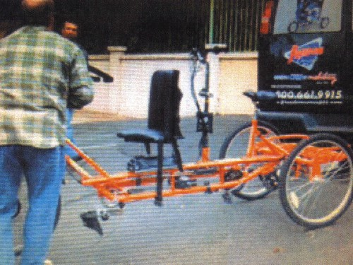 Special Needs Orange Bicyle Stolen West Los Angeles